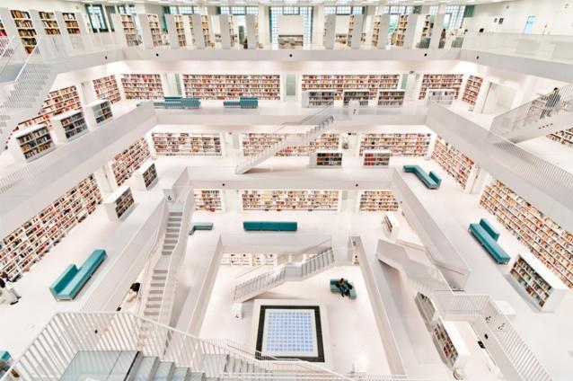 德國斯特加特市立圖書館Stuttgart City Library不可思議!世界上最美的圖書館1.jpg