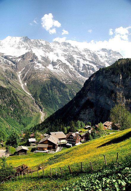 探索阿爾卑斯山雪朗峰の米倫Murren小鎮!1.jpg