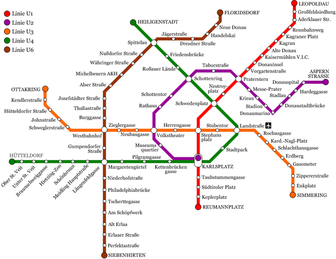2019年冬季奧地利自由行攻略!穿梭童話首都維也納(附件:行程規劃、交通住宿、行前準備)_地鐵圖.png